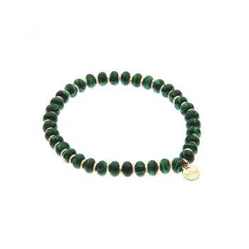Biba natuursteen kralenarmband groen