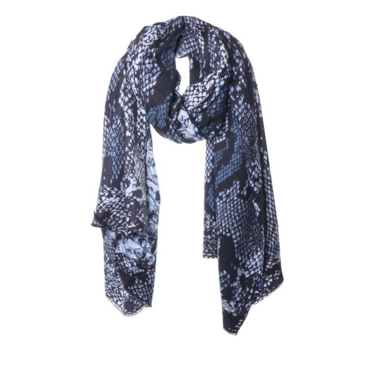 Biba sjaal blauw snake print