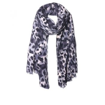 Biba sjaal print in blauwtinten