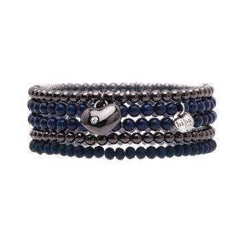 Biba kralen armbanden tinten blauw - gun 5 delig