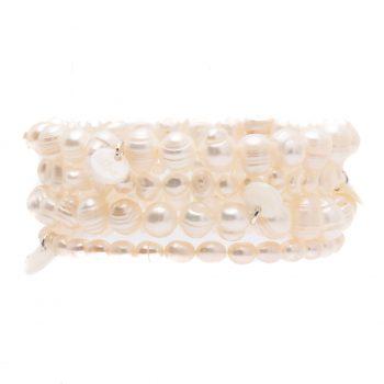 Biba kralen armbanden zoetwater parels 4 stuks