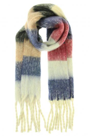 Sjaal Jacky overlopende gekleurde blokken - rood