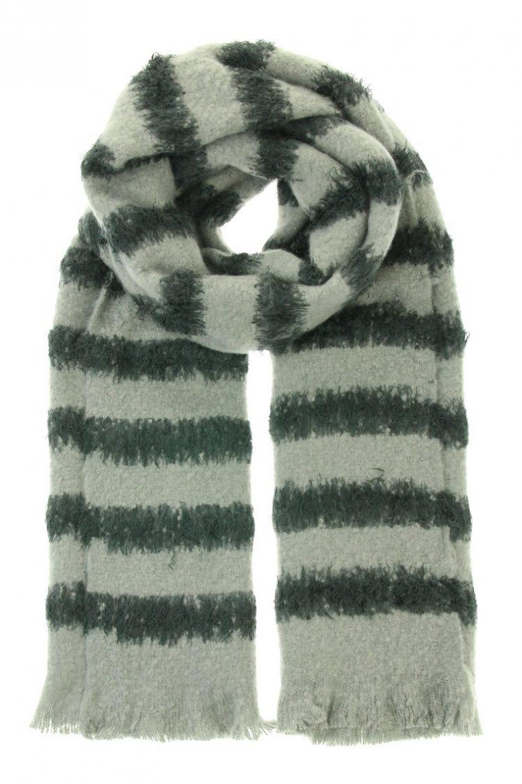 Sjaal Liza lang gestreept - grijs