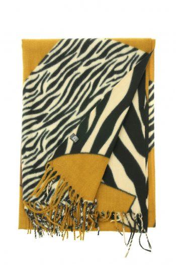 Sjaal soft Zebra - camel bruin