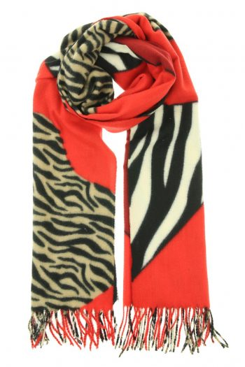 Sjaal soft Zebra - rood