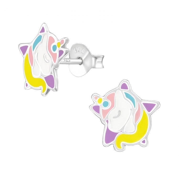 Kinderoorbellen eenhoorn op ster pastel