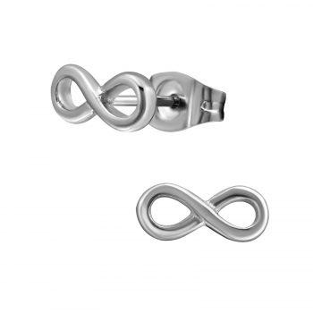 Oorbellen RVS infinity zilver oneindigteken