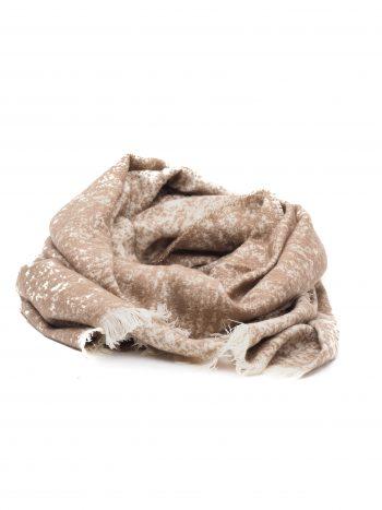 Biba bruin zand tinten lange sjaal