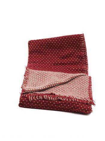 Biba donkerrode sjaal met stippen