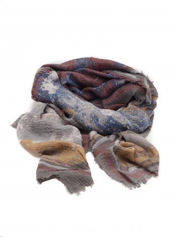 Biba sjaal in blauw tinten met sterren