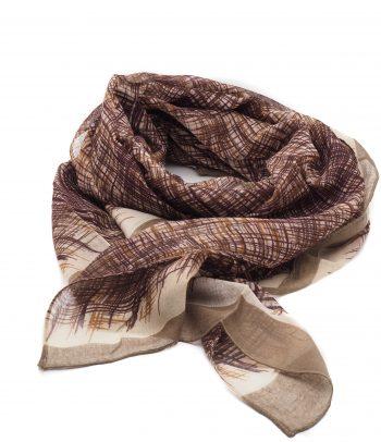 Biba sjaal in bruintinten met streep design lang