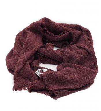 Biba sjaal donker rood effen soft