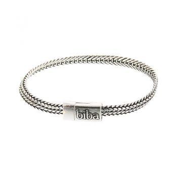 Biba armband chain antiek zilverkleurig 19,5 cm