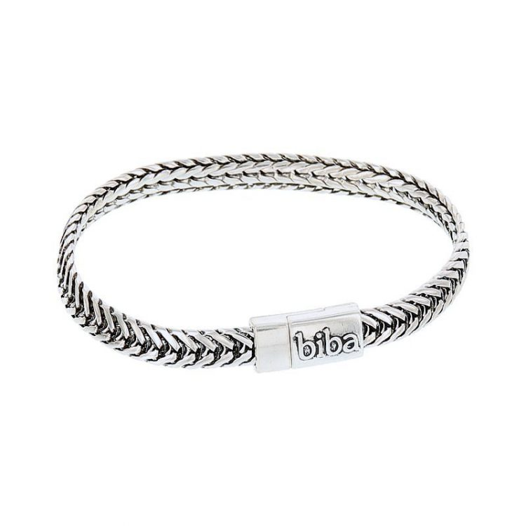 Biba chain antiek armband zilverkleurig 19,5 cm