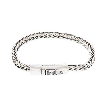 Biba metalen armband met dubbel V schakel 19,5 cm