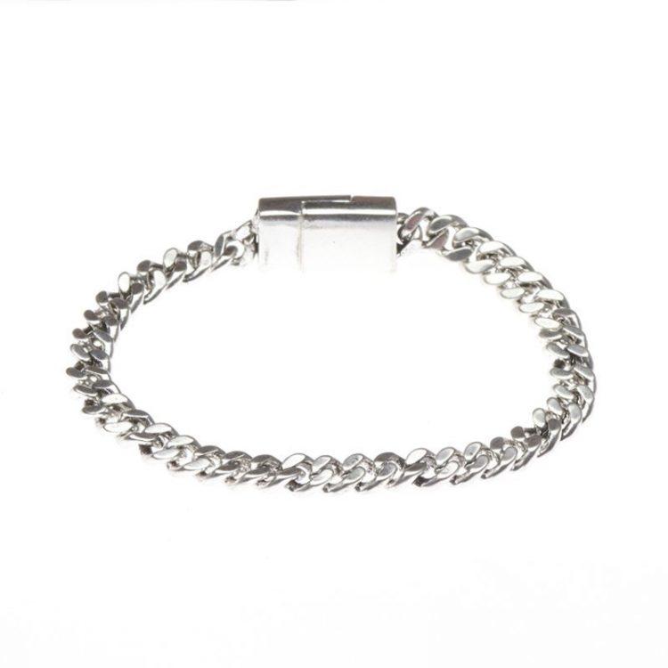 Biba chain schakel armband zilverkleurig 19,5 cm