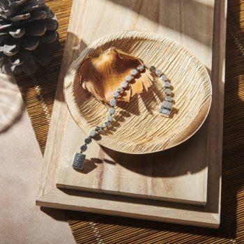 Biba metalen armband geschakelde rondjes 19,5 cm