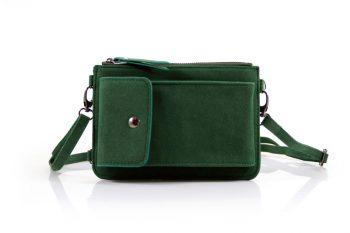 Telefoontasje groen met extra vakjes liggend