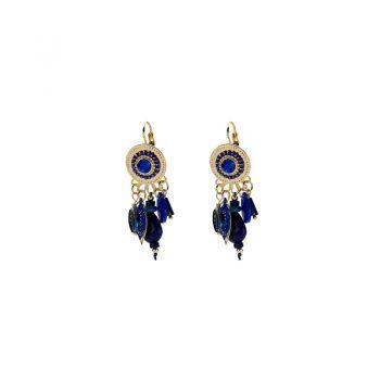 Biba oorbellen style Boho blauw