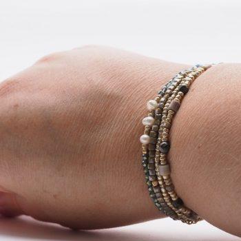 Biba armbanden 4 stuks zilverkleurig