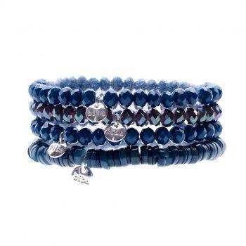 Biba kralen armbanden blauw-patrol 4 delig