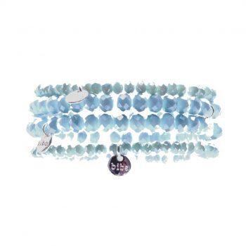 Biba kralenarmbanden licht blauw kids