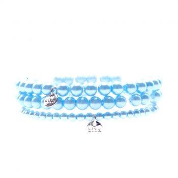 Biba glasparelarmbanden licht blauw kids