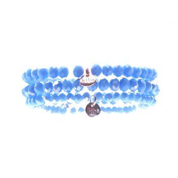 Biba kralenarmbanden licht blauw kids 3 delig