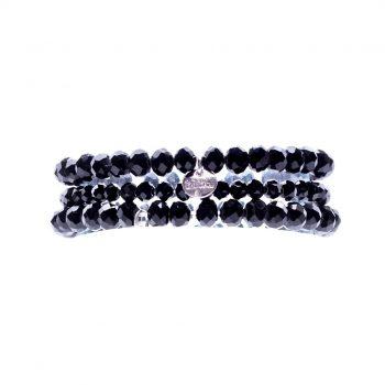 Biba kralenarmbanden voor kinderen zwart 3 delig